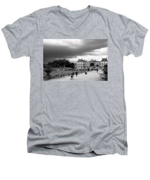 Luxembourg Gardens 2bw Men's V-Neck T-Shirt