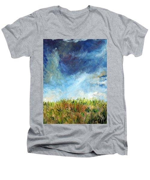 Lying In The Grass Men's V-Neck T-Shirt