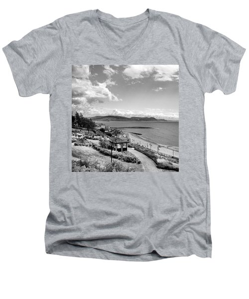 Lyme Regis And Lyme Bay, Dorset Men's V-Neck T-Shirt by John Edwards