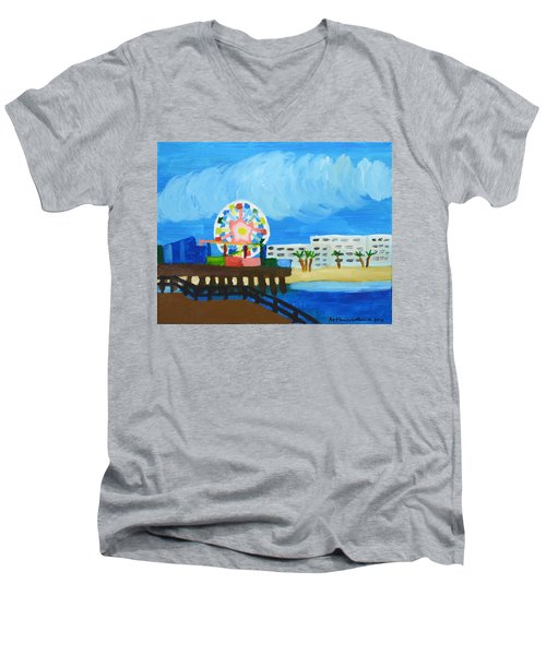 Lyndas Ferris Wheel Men's V-Neck T-Shirt