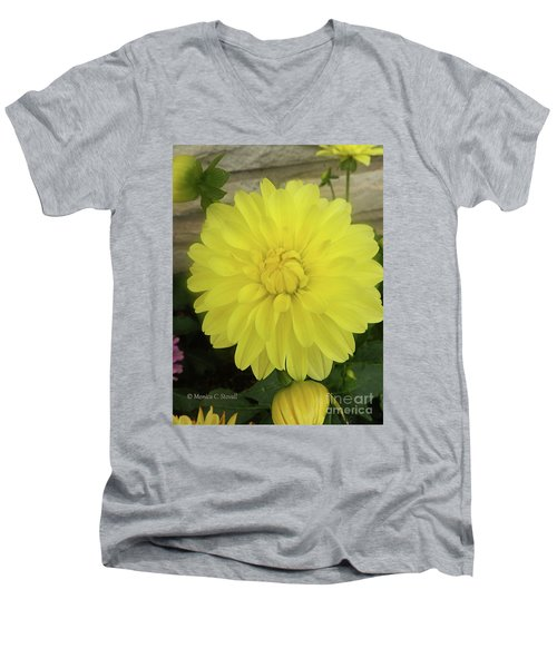 M Shades Of Yellow Flowers Collection No. Y90 Men's V-Neck T-Shirt