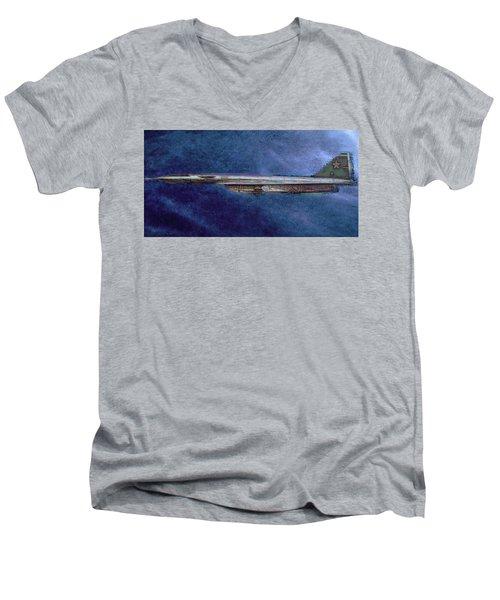 M50 Myasishchev  Men's V-Neck T-Shirt by Michael Cleere