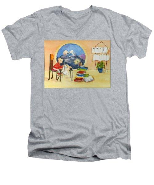 MA  Men's V-Neck T-Shirt