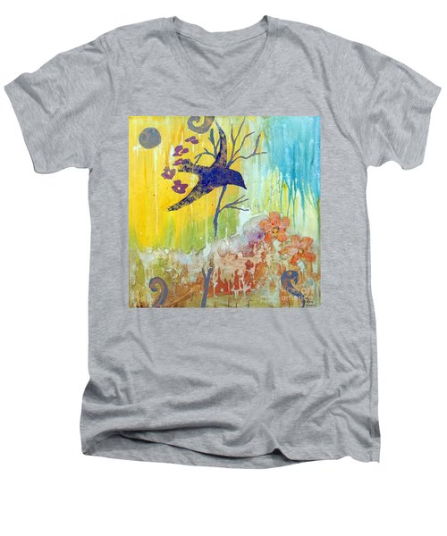 Ma Doh Bird Soars Men's V-Neck T-Shirt