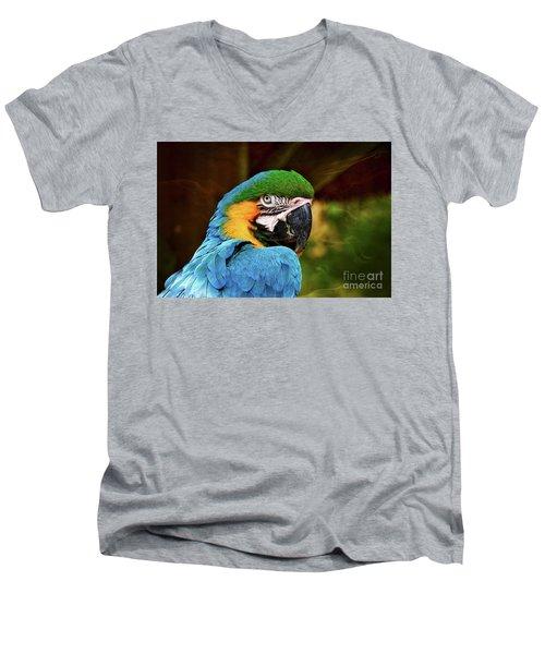 Macaw Portrait Men's V-Neck T-Shirt