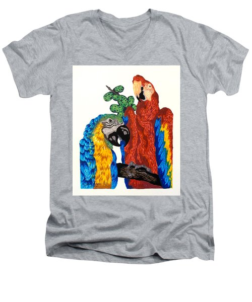 Macaws Men's V-Neck T-Shirt