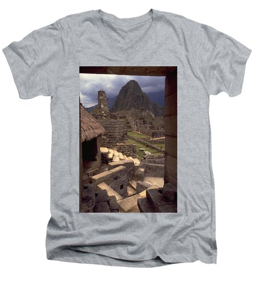 Machu Picchu Men's V-Neck T-Shirt