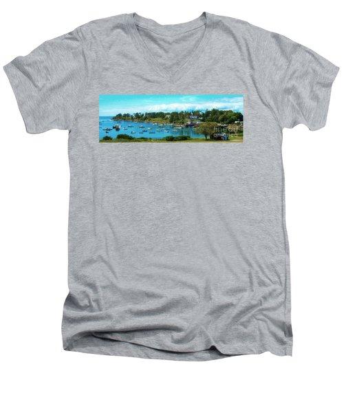 Mackerel Cove On Bailey Island Men's V-Neck T-Shirt