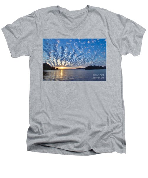 Mackerel Sky Men's V-Neck T-Shirt