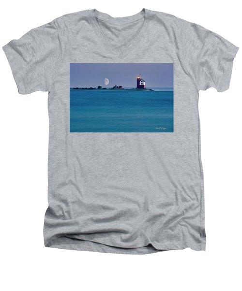 Mackinac Moon Men's V-Neck T-Shirt