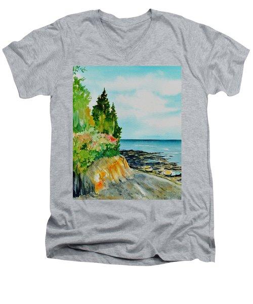 Mackworth Island Maine  Men's V-Neck T-Shirt