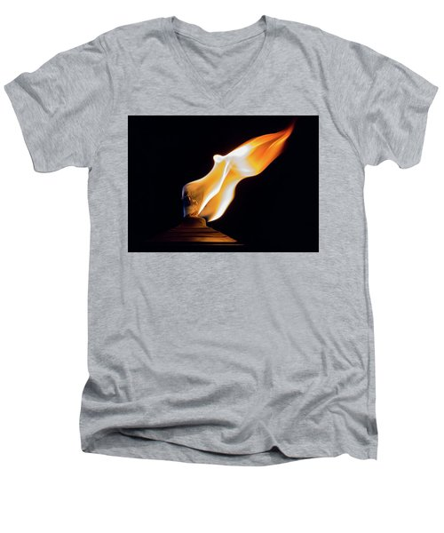 Macro Torch Men's V-Neck T-Shirt