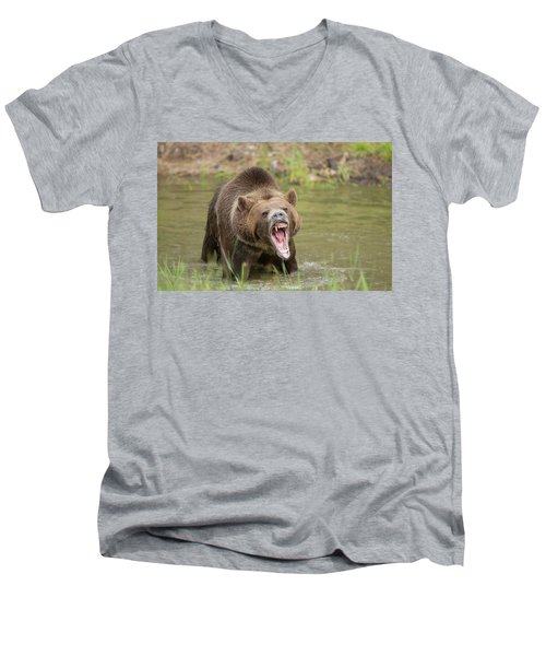 Mad Bear Men's V-Neck T-Shirt