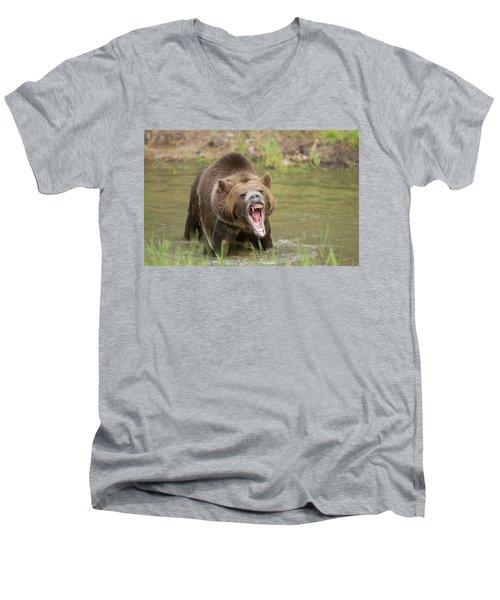 Mad Bear Men's V-Neck T-Shirt