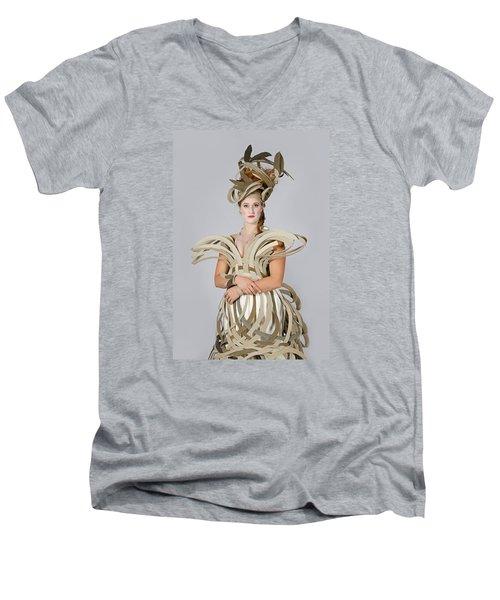 Isabel In Mad Hutter Men's V-Neck T-Shirt