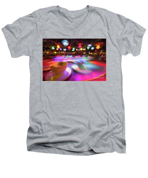 Men's V-Neck T-Shirt featuring the photograph Mad Tea Party by Vincent Bonafede