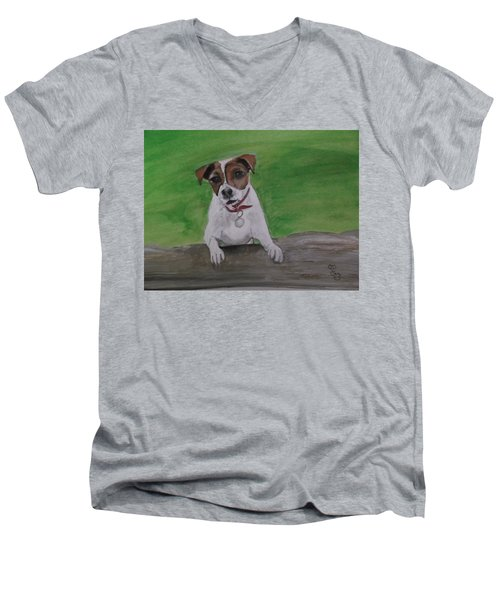 Maddie Men's V-Neck T-Shirt by Carole Robins