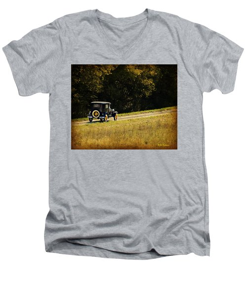 Madison County Back Roads-ford Men's V-Neck T-Shirt by Kathy M Krause