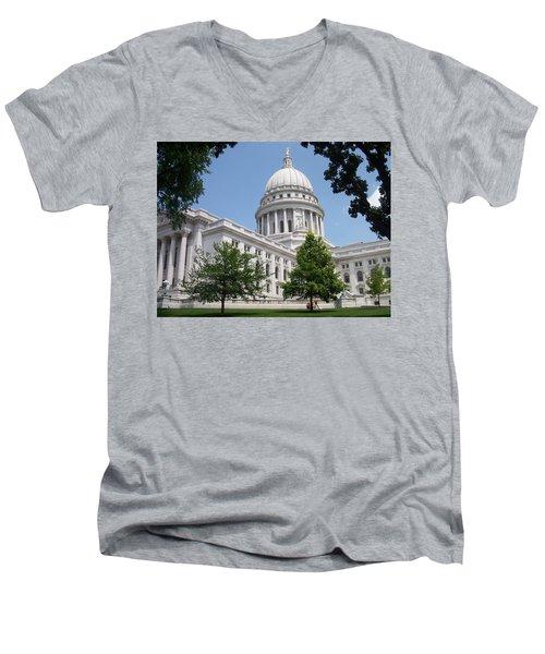 Madison Wi State Capitol Men's V-Neck T-Shirt