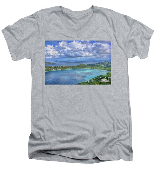 Magens Bay  Men's V-Neck T-Shirt by Olga Hamilton