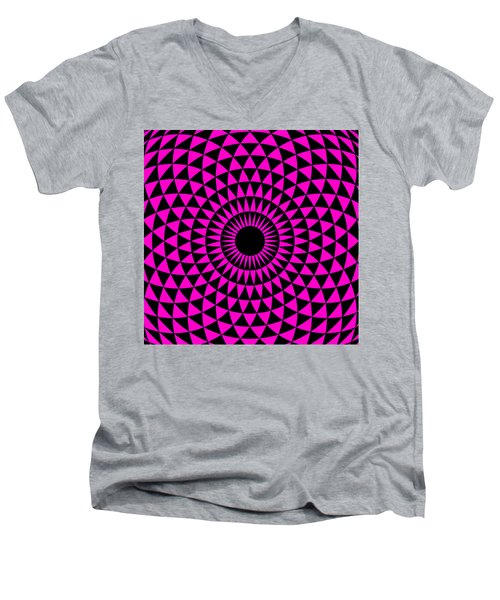 Magenta Balance Men's V-Neck T-Shirt