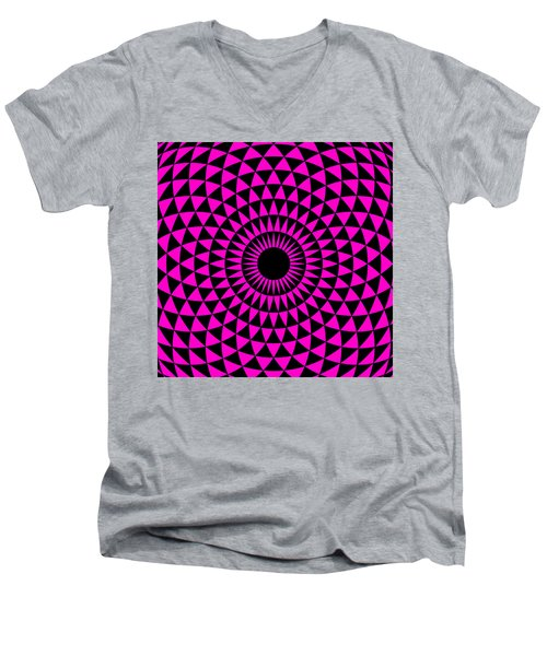 Magenta Balance Men's V-Neck T-Shirt
