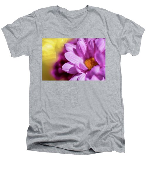 Magenta Floral Men's V-Neck T-Shirt