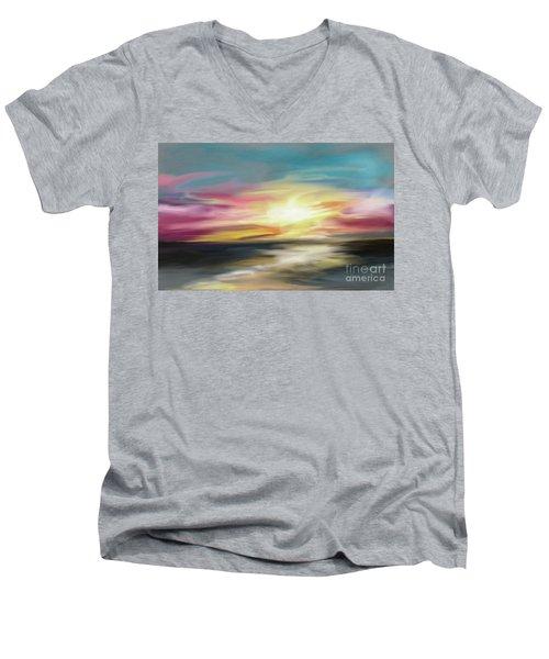 Magenta Sea Men's V-Neck T-Shirt