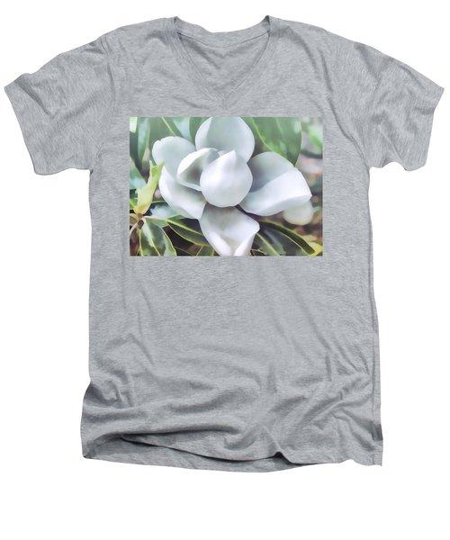 Magnolia Opening 2 Men's V-Neck T-Shirt