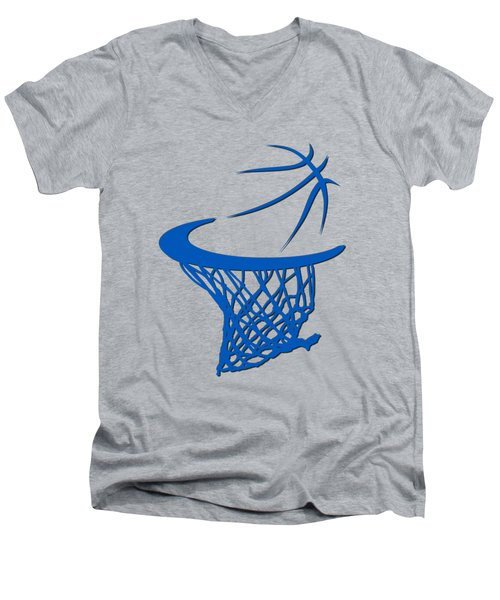Magic Basketball Hoop Men's V-Neck T-Shirt by Joe Hamilton
