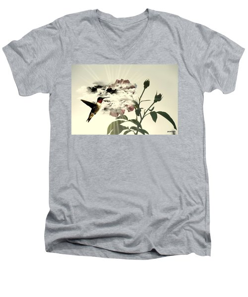 Magic Flower Men's V-Neck T-Shirt by Paulo Zerbato