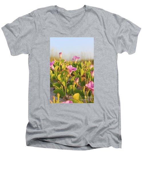 Magic Garden Men's V-Neck T-Shirt by LeeAnn Kendall