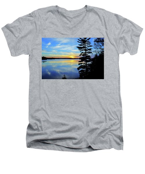 Magic Hour Men's V-Neck T-Shirt by Keith Armstrong