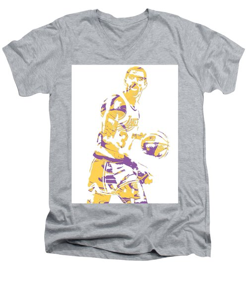Magic Johnson Los Angeles Lakers Pixel Art 6 Men's V-Neck T-Shirt