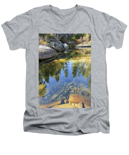 Magic Light On Big Silver Men's V-Neck T-Shirt