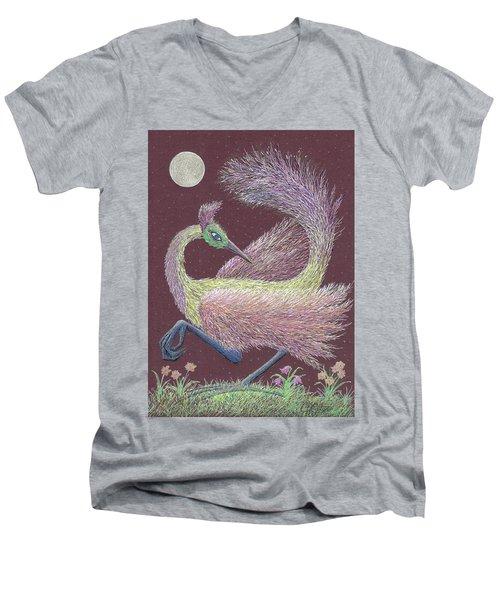 Magic Moon Dance Men's V-Neck T-Shirt by Charles Cater