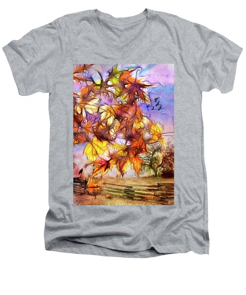 Magic Of Autumn Men's V-Neck T-Shirt