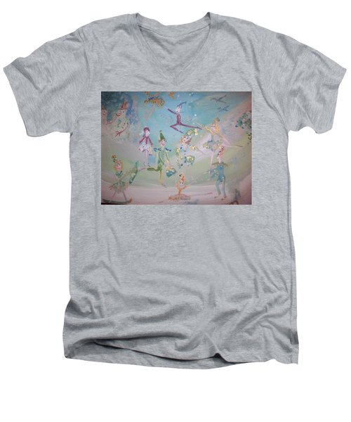 Magical Elf Dance Men's V-Neck T-Shirt by Judith Desrosiers