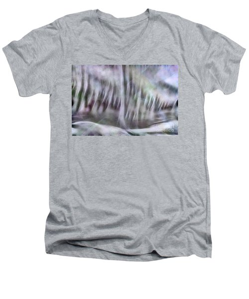 Symphony In Pastel Colors Men's V-Neck T-Shirt by Yulia Kazansky