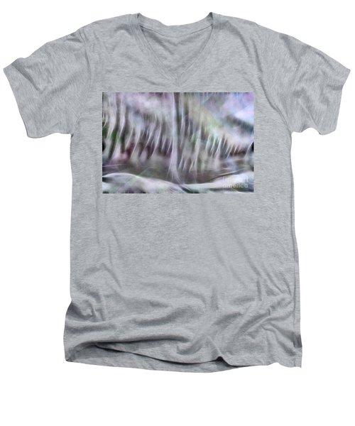 Men's V-Neck T-Shirt featuring the photograph Symphony In Pastel Colors by Yulia Kazansky