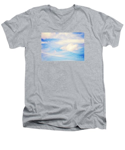 Men's V-Neck T-Shirt featuring the photograph Magical Sky Part 1 by Janie Johnson