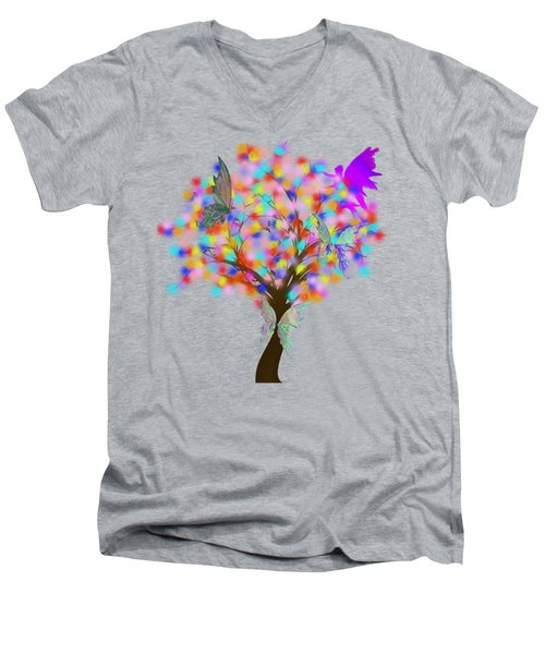 Magical Tree - Digital Art Men's V-Neck T-Shirt