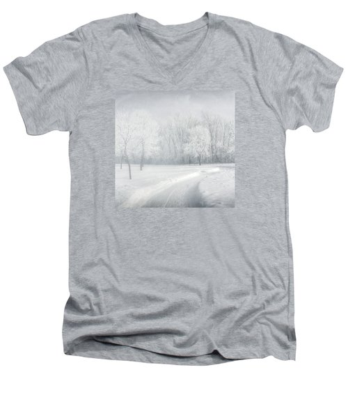 magical Winter day Men's V-Neck T-Shirt