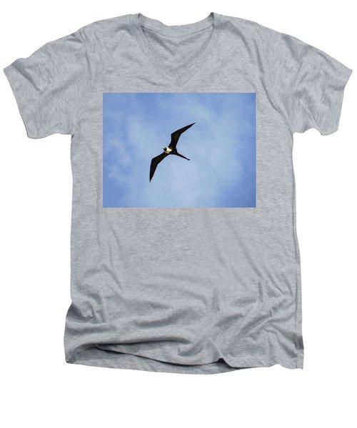 Magnificent Frigatebird In Flight Men's V-Neck T-Shirt