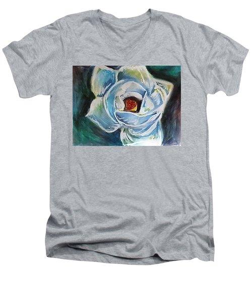Magnolia 3 Men's V-Neck T-Shirt by Loretta Nash