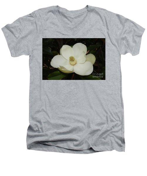 Magnolia Blossom 5 Men's V-Neck T-Shirt