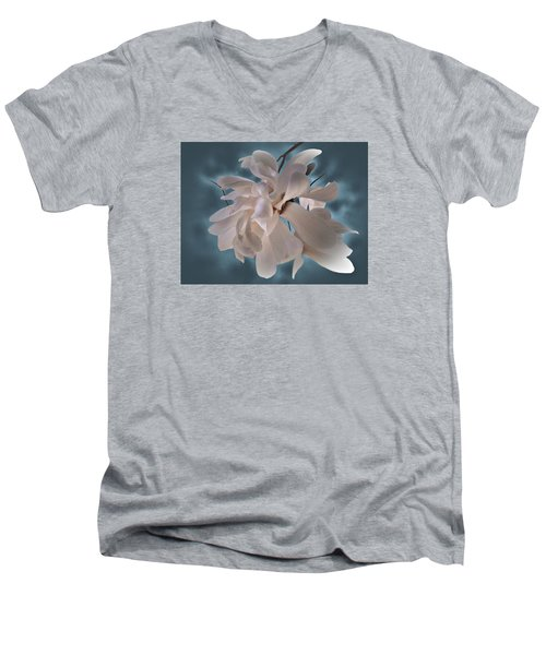 Magnolia Blossoms Men's V-Neck T-Shirt by Judy Johnson