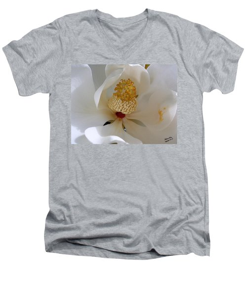 Magnolia Happiness Men's V-Neck T-Shirt
