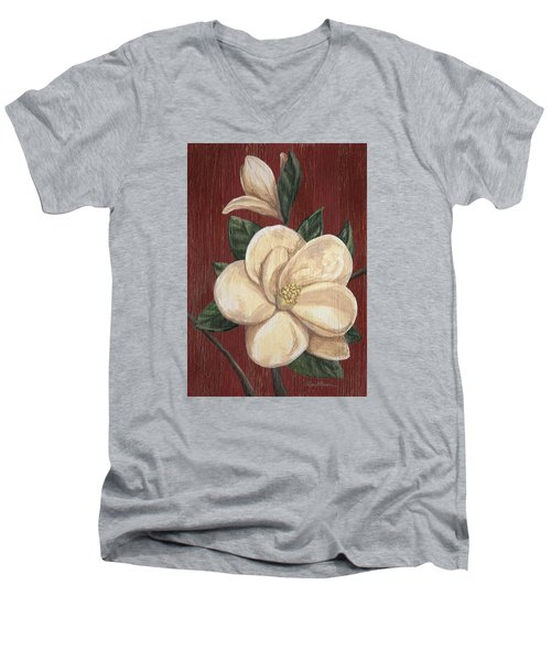 Magnolia II Men's V-Neck T-Shirt