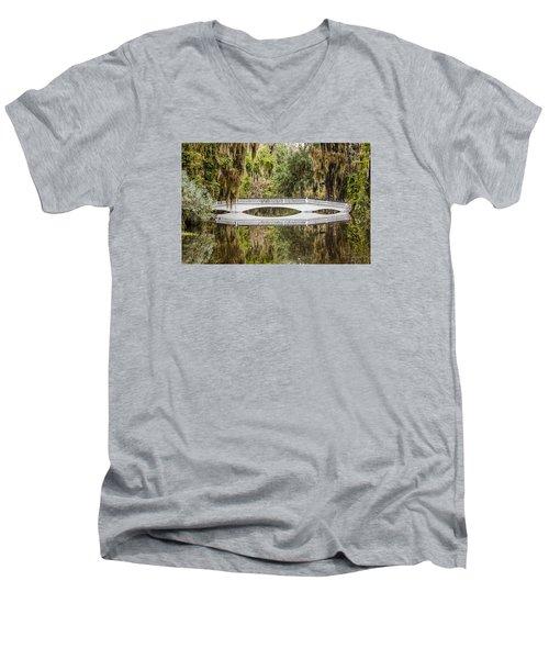 Magnolia Plantation Gardens Bridge Men's V-Neck T-Shirt